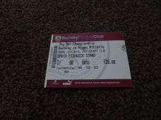 Burnley v Wigan Athletic, 2013/14 [ticket]